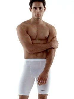 Bike White Compression Shorts