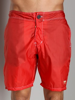 LASC Oyster Bay Nylon Board Short Red