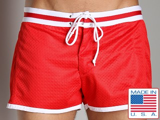 LASC Junior Varsity Mesh Swim Trunks Red