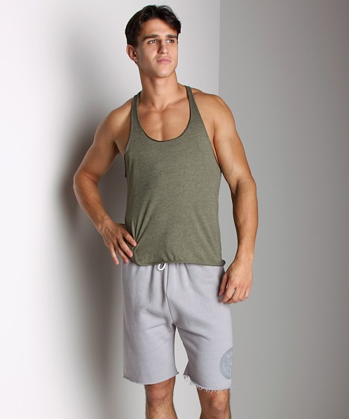 LASC Sixties String Tank Top Heather Army
