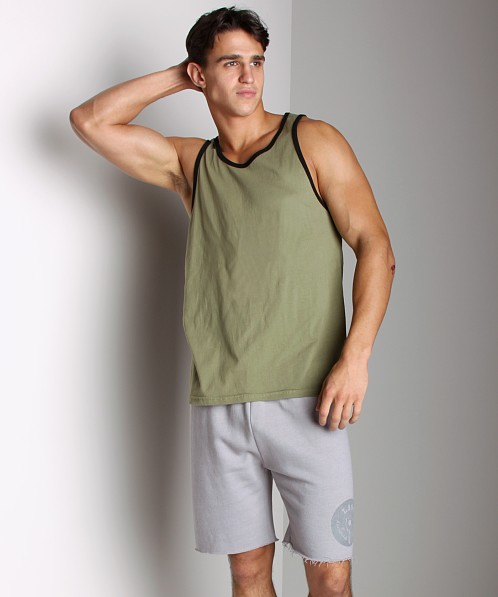 LASC Workout Tank Olive/Black