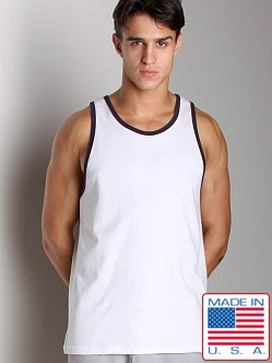 LASC Workout Tank White/Navy