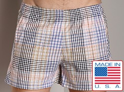 LASC Plaid Swim Shorts Royal