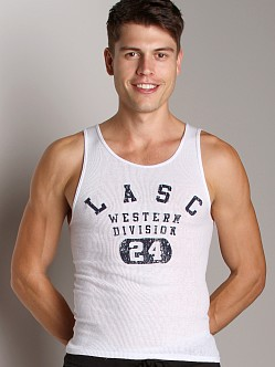 LASC Western Division Ribbed Tank Top White