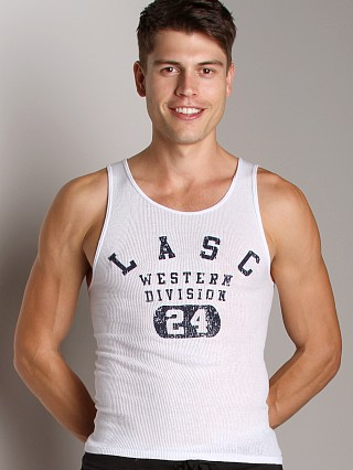 Complete the look: LASC Western Division Ribbed Tank Top White