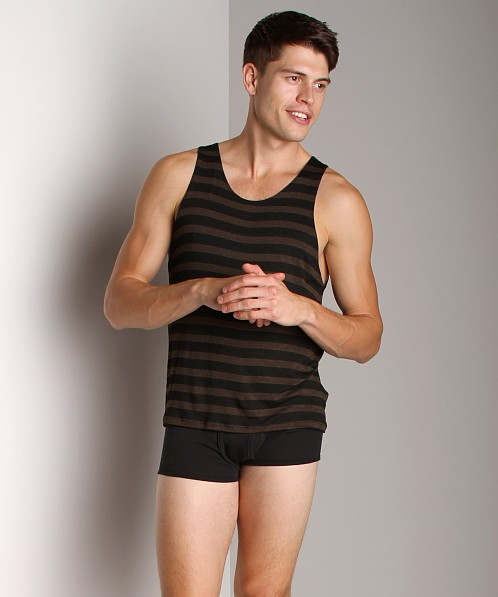 LASC Stripe Tank Top Brown/Heather