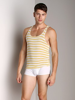 LASC Stripe String Tank Top Yellow Oatmeal