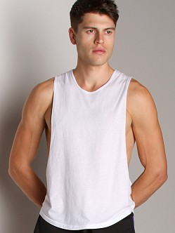 LASC Deep Cut Out Tee White