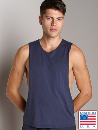 LASC Deep Cut Out Tee Navy