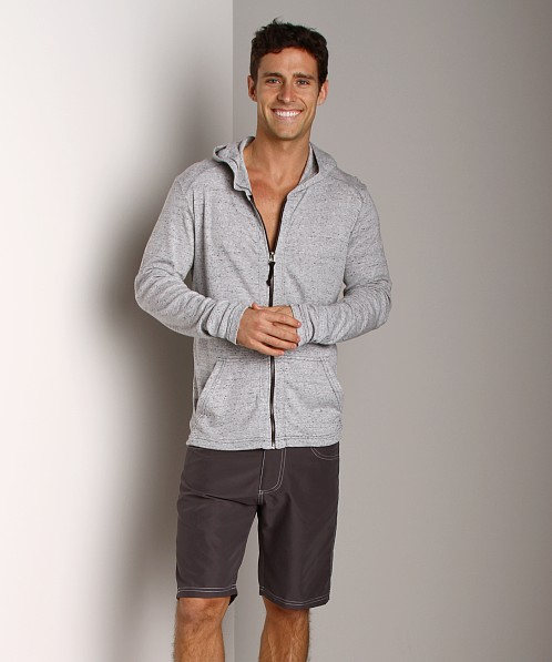 Andrew Christian Cosmopolitan SkinnyCore Hoodie White Heather