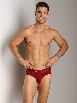 2xist Touch Ultra Contour Pouch No-Show Brief Cranberry