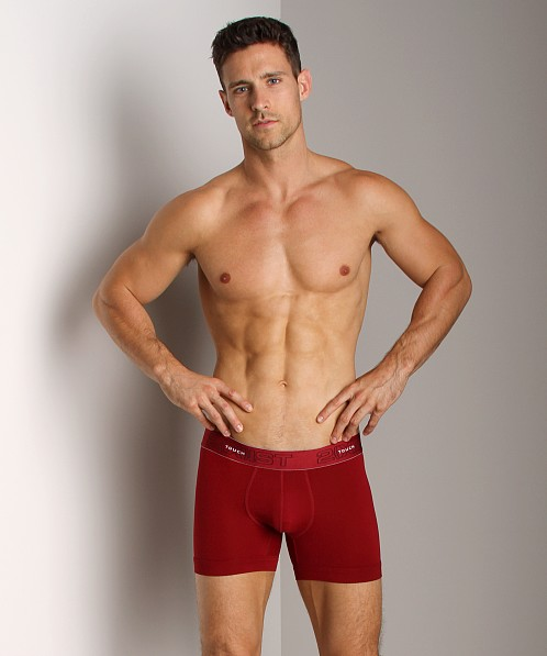 2xist Touch Ultra Contour Pouch Boxer Brief Cranberry