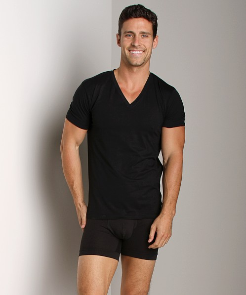 2xist Touch V-Neck Shirt Black