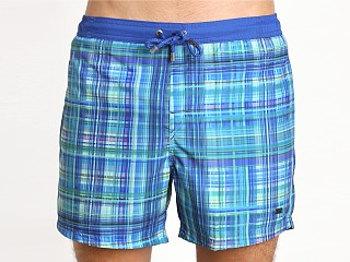 Hugo Boss Icefish Swim Blue Plaid