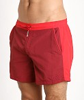 Hugo Boss Snapper Swim Shorts Burgundy/Red, view 3