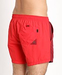 Hugo Boss Snapper Swim Shorts Burgundy/Red, view 4