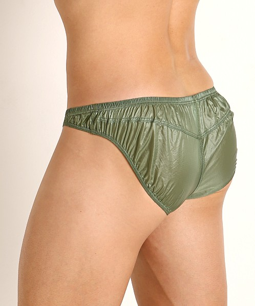 Rick Majors Ripstop Wet Look Briefs Olive