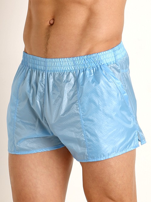 Rick Majors Ripstop Wet Look Shorts Baby Blue