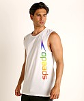 Speedo Rainbow Pride Muscle Shirt White/Rainbow, view 3