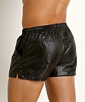 Rick Majors Ripstop Wet Look Shorts Black, view 4