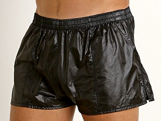 Complete the look: Rick Majors Ripstop Wet Look Shorts Black