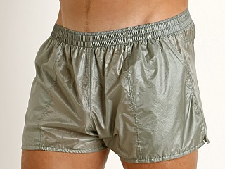 Complete the look: Rick Majors Ripstop Wet Look Shorts Steel
