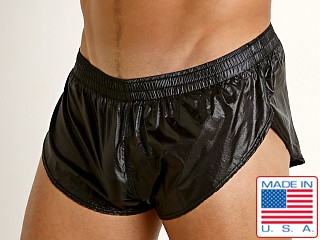 Rick Majors Ripstop Wet Look Split Shorts Black