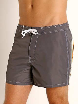 "Model in midnight #14 Sundek 14"" Classic Low-Rise Boardshort"