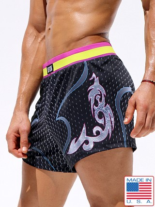 Model in multicolor Rufskin Roundhouse UltraSport Shorts