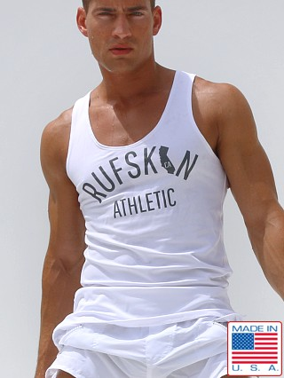 Rufskin Gym Athletic Logo Tank Top White