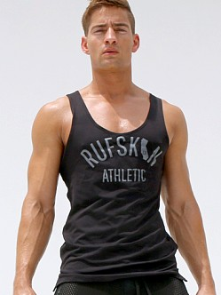 Rufskin Gym Athletic Logo Tank Top Black