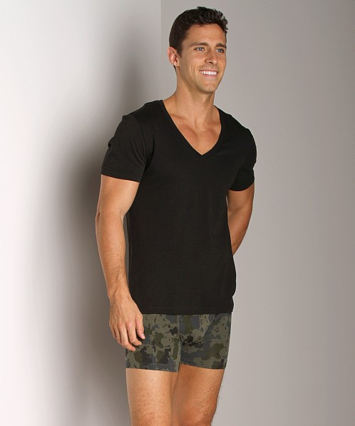 G-Star Base V-Neck Shirt 2-Pack Solid Black