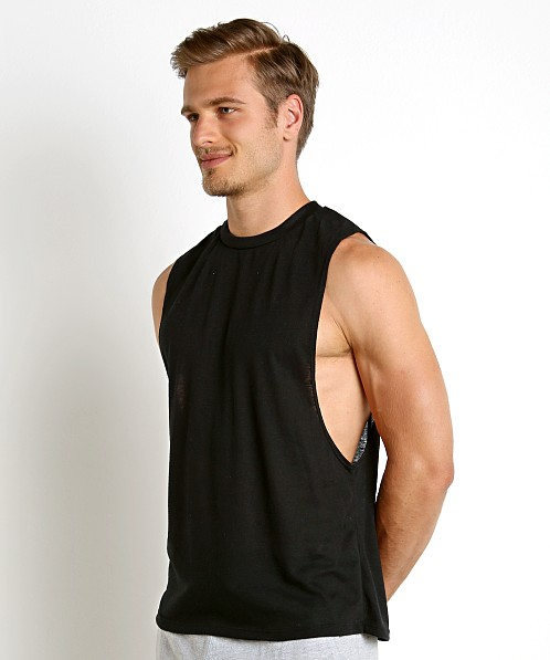 LASC Deep Cut Out Tank Black