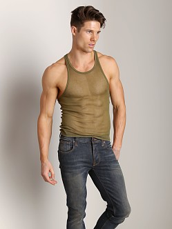 DSQUARED Tulle Tank Tank Military