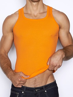C-IN2 Pop Colors Square Neck Tank Top Orange Peel