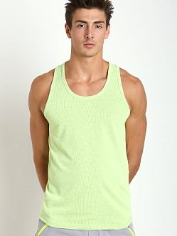 2xist Trainer Tech Mesh Racerback Tank Top Neon Yellow
