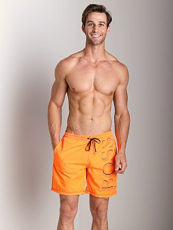 Hugo Boss Killifish Swimsuit Bright Orange
