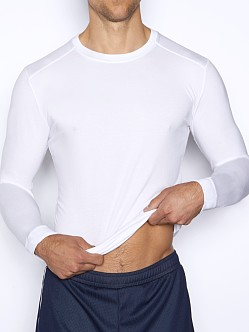 C-IN2 Grip Lite Long Sleeve Crew Neck Shirt White