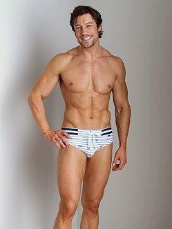 2xist Nautical Knot Rio Swim Brief White