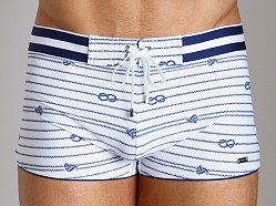 2xist Nautical Knot Cabo Swim Trunk White