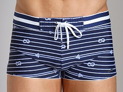 2xist Nautical Knot Cabo Swim Trunk Estate Blue