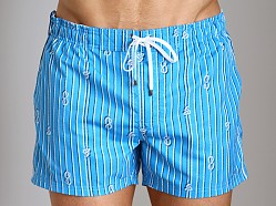 2xist Nautical Knot Ibiza Swim Shorts Shock Blue
