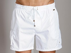 2xist Gold Camper Swim Shorts White