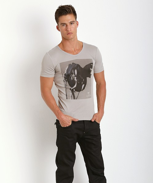 G-Star TS V-Neck Shirt Industrial Grey