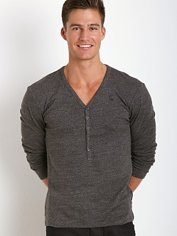 G-Star Dider Granddad V-Neck Shirt Raven Heather