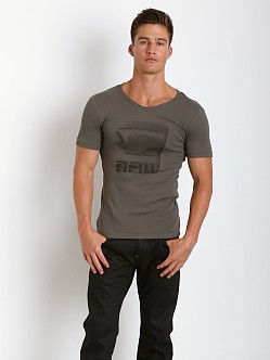 G-Star Termdal V-Neck Shirt Raw Grey