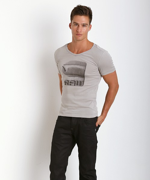 G-Star Termdal V-Neck Shirt Industrial Grey