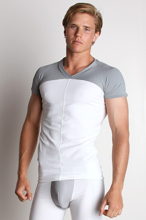 McDavid Hexpad Short Sleeve Body Shirt White