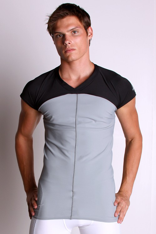 McDavid Hexpad Short Sleeve Body Shirt Grey