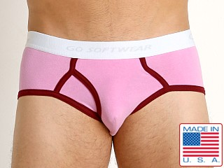 Go Softwear California Classic Boy Brief Pink/Burgundy